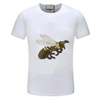 Il nuovo elenco Fashion Designer Tshirt Magliette per uomo Bee Snake Animal Print Lettera Business casual marchio di lusso Estate Top Quality