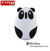 Chyiかわいい漫画のパンダワイヤレスマウス1600dpiの光充電式マウスUSBコンピューターのパッドとPCのラップトップの女の子のためのマウスパッド