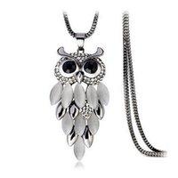 Nouvelle arrivée hibou chaîne collier or design de mode pendentif breloques long collier femme femmes bijoux de mode accessoires