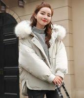 2018 зимняя одежда новый женский короткий студент хлеб с меховым воротником с капюшоном хлопка куртка пальто верхняя одежда