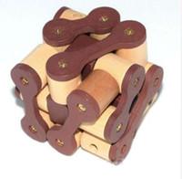164 Jogos Educativos Brinquedos cadeia de quebra-cabeça de madeira puzzle IQ teaser de cérebro Kong Ming Bloqueio / Lu Ban Bloqueio de brinquedo