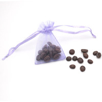 حار 300PCS 15 الألوان Drawable الصغيرة 5x7cm اورجانزا حقائب حفل زفاف لصالح هدية Chirstmas حقائب مجوهرات التعبئة الرباط الحقائب شحن مجاني.