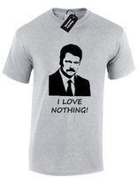 RON SWANSON - I LOVE NOTHING MENS T SHIRT FUNNY PARKS RECREA...