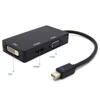 3 en 1 Mini Display Port 1.1a DP Thunderbolt à DVI + VGA + HDMI Adaptateur pour MacBook Pro HMP_40D