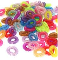 Novo Anel de Corda de Cabelo Scrunchy Linha de Fio de Telefone Gum Cord Mulheres Elástico Elástico Headwear Rabo De Cavalo Titular Hairband