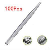 الجملة 200PCS الفضة المهنية ماكياج دائم القلم 3D ماكياج التطريز اليدوي القلم وشم الحاجب microblade الشحن المجاني