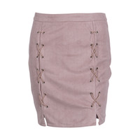 Latest High- Quality Leather Women Skirt Pink Classic Vintage...