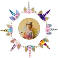 Cute Unicorn Horn with Rose Flower and Rhinestone Hair Hoop ...