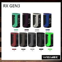 Wismec Reuleaux RX GEN3 Caixa Mod Com 1.3-Polegada Display OLED 300 W TC Modo Flip Tampa Da Bateria Aberta Firmware Atualizável por JayBo 100% Original