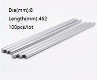 100 шт./лот 8x462mm диаметр 8 мм линейный вал 462 мм длинный закаленный вал подшипник хромированный стальной стержень бар для 3D принтер частей cnc маршрутизатор