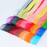 2 cm 50 metros de tecido de cetim de seda fita de poliéster de organza para costura festa de casamento decoração correias cinto de embalagem de presente