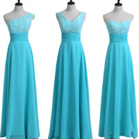 Lace Chiffon A Line Bridesmaid Dresses Lace Up 2018 Summer W...