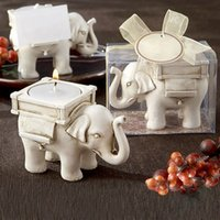 Candle Holder Wedding Favor Home Decor Lucky Elephant Tea Li...
