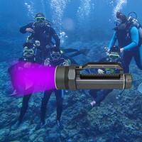 KC Fire Neue Ankunft 4400Lm Tauchen Taschenlampe 4 X UV Ultraviolettes Licht LED Laterne Taschenlampe Unterwasser 100 Mt Wasserdichte Scuba Jagd ..