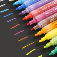 Ofis Okulu Su Bazlı Mürekkep Akrilik Painer Sanat Marker Kalem Yaratıcı DIY Kalem Su geçirmez Çeşitli Boya Renkleri