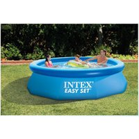 305cm 76cm INTEX blue AGP above ground swimming pool family pool inflatable for adults kids child  summer water
