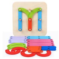 Montessori infância brinquedos Educativos quatro conjuntos de blocos de madeira puzzle divertido criativo carta digital matemática brinquedo