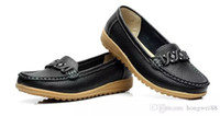 The spring and autumn shoes with size mother leather black s...