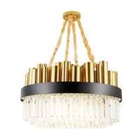 New Modern round Crystal Chandelier High- end gold electropla...