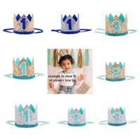 meninas New Hot Bebés Meninas Crown headbands da festa de aniversário da tiara hairbands crianças princesa acessórios para o cabelo Sequins faísca Headbands bonitos