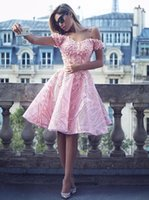 Baby Pink Short Homecoming Dresses 2018 New Off the Shoulder...