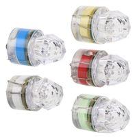 5 컬러 미니 LED 루어 물고기 램프 깊은 드롭 수중 다이아몬드 모양 낚시 미끼 빠른 폴리 물고기 조명 드롭 배송
