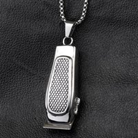 Valily Jewelry Men's Barber Pendant Necklace Stainless Steel...