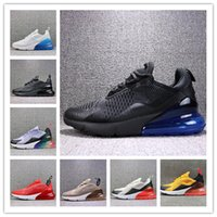 New 270 27c low cut men Running Shoes black white pink runne...
