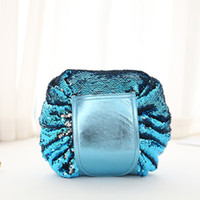 Glittering Mermaid Sequin Wash Bags Travel Lazy Cosmetic Bag...