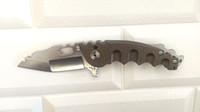 Heeter Knifeworks Hombre de guerra M-O-W Cuchillo plegable pesado S35VN Blade Brown Titanium Mango Cuchillos al aire libre personalizados Tactical Camping Herramientas de la caza Pocket EDC
