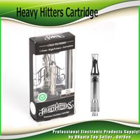 Heavy Hitters Cartridges 1.0ml Pyrex Glass Empty Tank Hitters Керамическая катушка 510 Vape Thread Atomizer с 9 наклейками Flavor