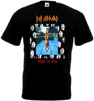 Magliette casual Tops O-Neck Short Def Leppard High 'N' Dry T-Shirt V1 Black Poster Tutte le taglie S To 3XL New Style Mens Tee Shirt