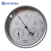 3 in 1 Weather Station Analog Thermometer Hygrometer Barometer 132mm Wall Hanging Temperature Humidity Pressure hPa Meter