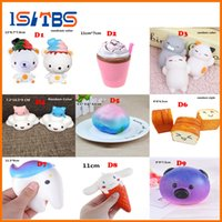 9D style Pane Squishy Slow Rising Patatine Fritte Soft Ice Cream Coffee Cup Profumato Banana Stretch Donut Milk spremere bottiglia Toy