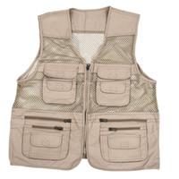 servicios públicos mens de múltiples bolsillos de caza de tiro pesca senderismo chaleco