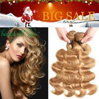 Siyusi Hair Products Blonde 페루 인디언 말레이지아 브라질 버진 바디 웨이브 헤어 위브 퓨어 컬러 # 2 # 30 # 99J # 27 Human Hair Bundles