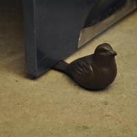 4 Piezas Vintage Hierro Fundido Pájaro Parar Puerta Puerta Cuña Doorstop Metal Crafts Home Hotel Bar Puerta Tapón Titular Animal Animal Decoración Vintage