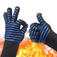 Outdoor oven high temperature non- slip gloves insulation ant...