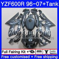 Nero opaco corpo + serbatoio per YAMAHA YZF600R Thundercat 02 03 04 05 06 07 229HM.37 YZF 600R YZF-600R 2002 2003 2004 2005 2006 2007 Carenatura