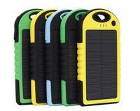 태양 전원 은행 5000mAh 충전기 LED 손전등 캠핑 램프 더블 USB 배터리 패널 방수 휴대용 휴대 전화에 대 한 방수 휴대용 충전