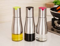 Glass Oil Vinegar Dispenser Bottles Can Cruet Storage With P...