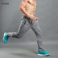 DLIXZI estate pantaloni da jogging tuta da uomo tasca cerniera allenamento fitness pantaloni elasticità uomini magri pantaloni sudore pantaloni parkour