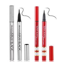 12pcs / Set Yanqina Coly Crayon Eyeliner noir Coly Sèche rapide en argent / tube rouge Tube imperméable longue durée Naturel Naturel Liquour 8634