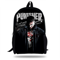 16inch The Punisher Frank Castle Bag gift Boys School Bags F...
