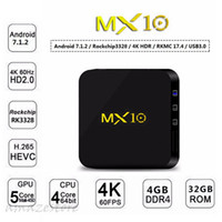 Android TV Box MX10 4K Smart Boxes 4GB 32GB Rockchip RK3328 ...