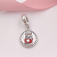 Authentic 925 Sterling Silver Beads Land That I Love Charms ...