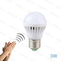 Lampadine LED Auto Sound Sensor AC175-245V 3W PC PP PP E27 6500K SMD2835 Alta luminosità per camera da letto vivente Sala studio cucina EUB