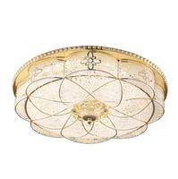 Lampada da soffitto a LED Camera da letto ristorante moderno europeo tondo a tre colori oscuramento lampada da soffitto in ferro battuto lampade spazzolate