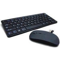 2.4G 무선 키보드 및 마우스 키트 키패드 울트라 슬림 PC 노트북 컴퓨터 액세서리 블랙 키보드 W28