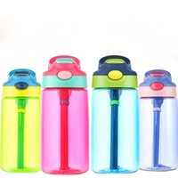 Kids Water Bottle 16 oz with Straw and Handle BPA Free Dust ...